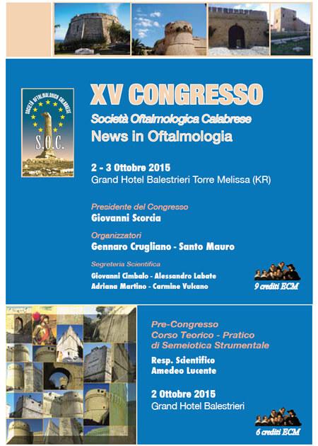 XV Congresso S.O.C. – News in Oftalmologia